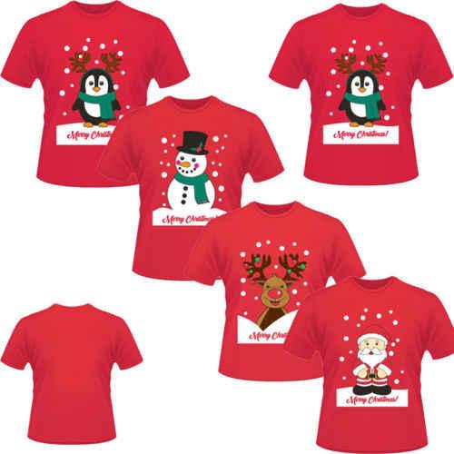 Nuevo divertido Unisex Navidad mujeres hombres algodón