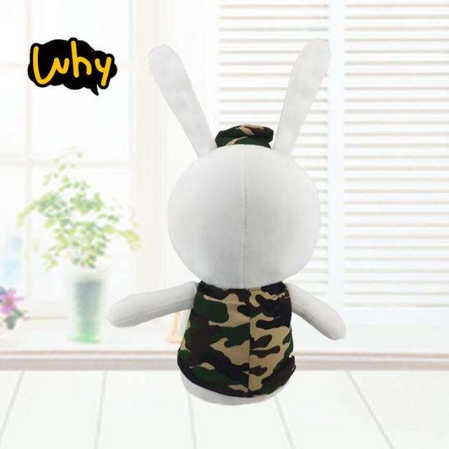 1pc 30cm Cute Camouflage Rabbit Wolf King Descendants of the Sun Soft Stuffed Toy