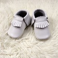 White Infant Shoe Genuine Leather Baby Moccasins