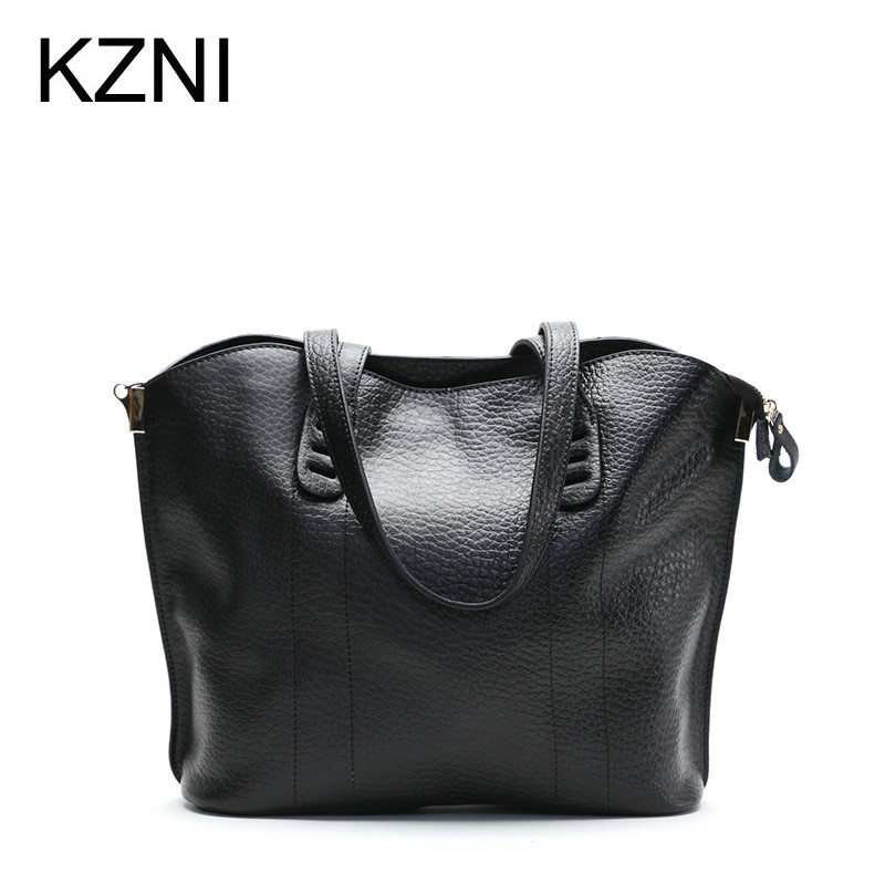 KZNI Genuine Leather Purse Crossbody Shoulder Women Bag Clutch Female Handbags Sac a Main Femme De Marque Z031819 kzni tote bag genuine leather bag crossbody bags for women shoulder strap bag sac a main femme de marque luxe cuir 2017 l042003