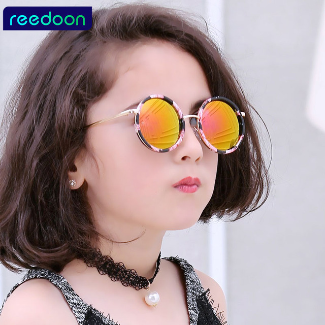 a5cd1a05c0 REEDOON Top Fashion Coating Vintage Baby Boy Girls Kids Sunglasses Children  Sun Glasses Oculos De Sol