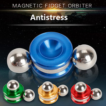Magnético Fidget Orbiter Antistress Gags Toy Figuras Spinner Metal Dedo Brinquedos Stress