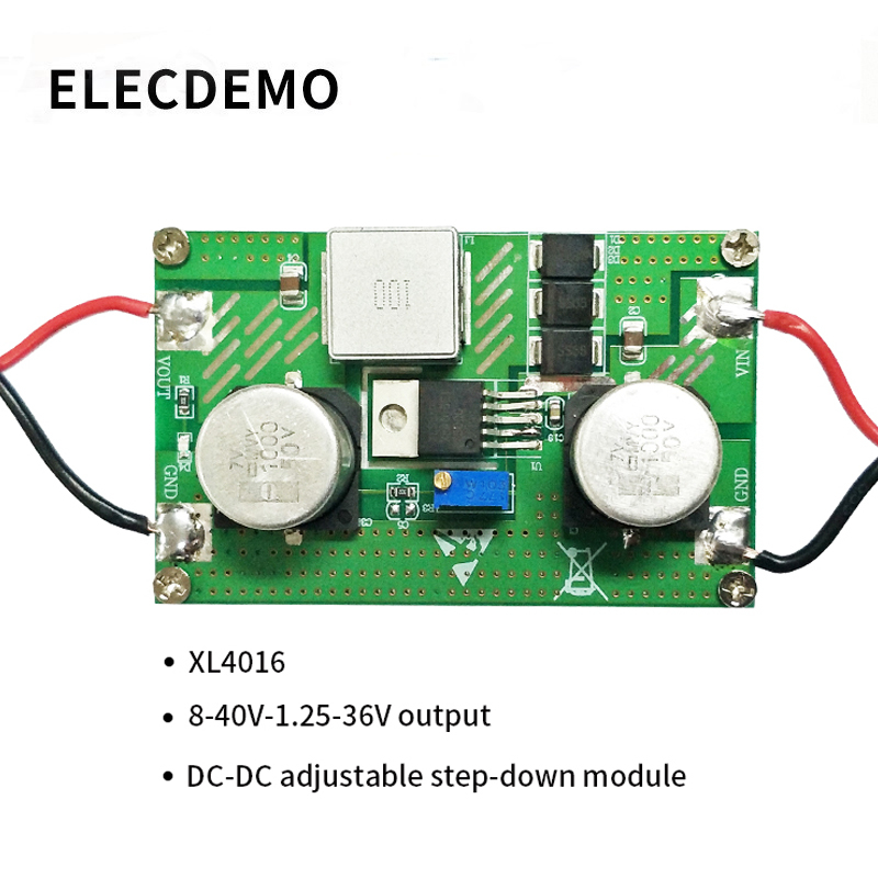 XL4016 module high power DC voltage regulator DC DC step down power module 8A high current 5V9V12V24V function demo board-in Demo Board Accessories from Computer & Office