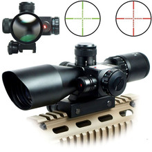 2.5 - 10 x 40 Tactical Rifle Scope with Red Laser Dual Illuminated Mil-dot W  Rail Mount Airsoft Riflescope Telescopic Sight цена в Москве и Питере