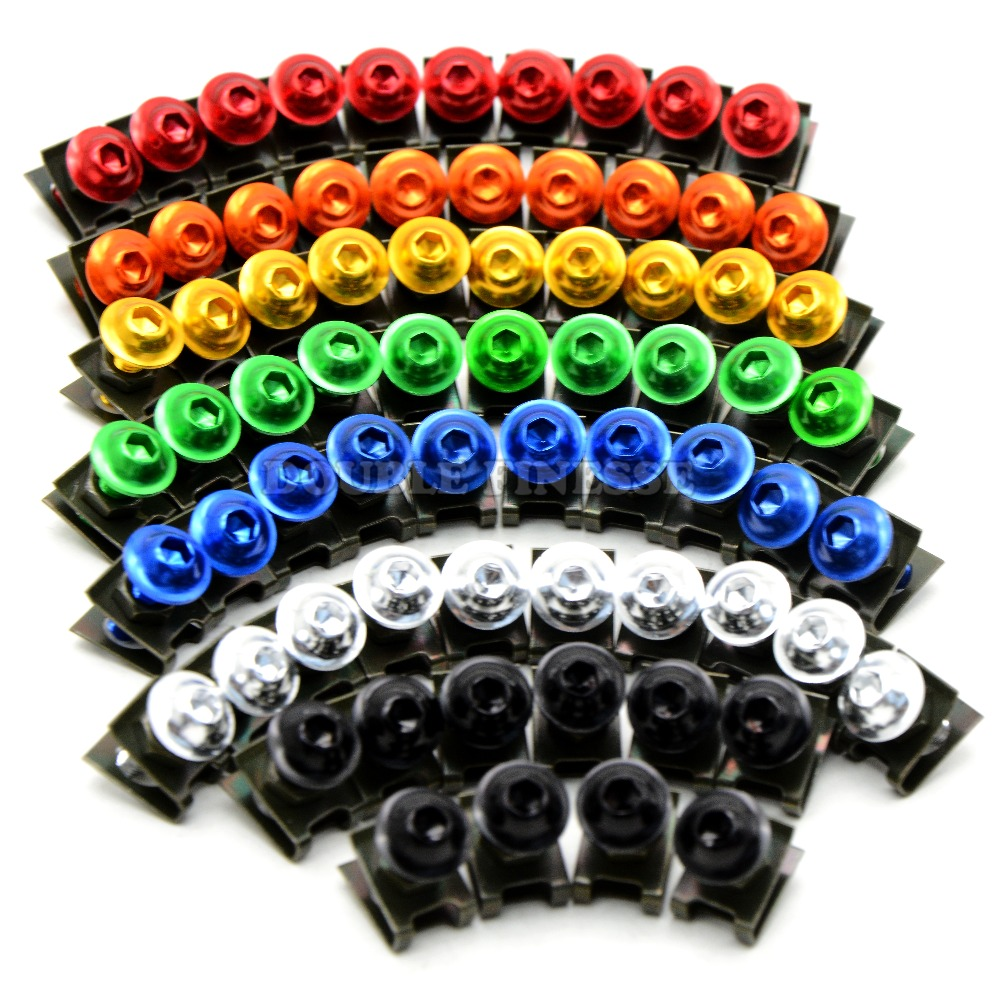 6mm  motorbike body work fairing bolts screwse  For Ducati 916 / 916SPS 94  95 96 97 98 99 honda crf450x cbr 600 f3 cbr650f