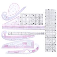 French Curve Rulers 10pcs/set Multi Styling Design Drawing art painting Comma Line Straight Sewing Tailor Craft