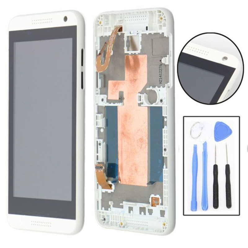 LCD Display+Touch Screen Digitizer+Frame Assembly For HTC Desire 610 D610n White