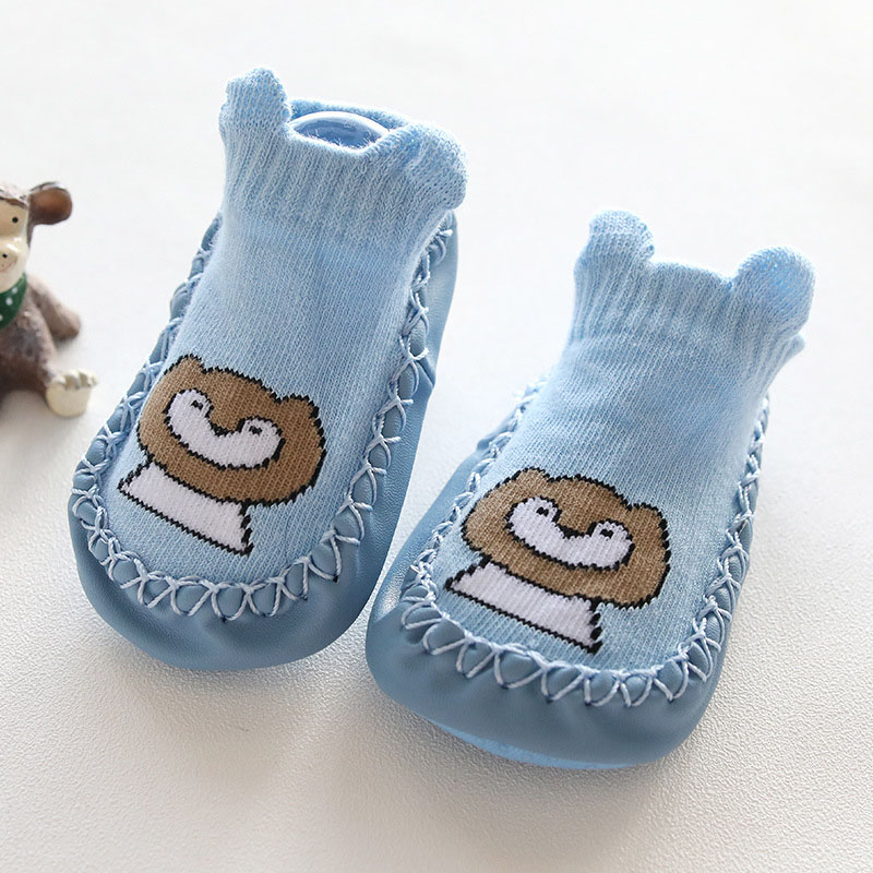 Baby Sock Anti Slip Soft With Rubber Soles Newborn Infant 2019 Spring Autumn Winter Warm Cartoon Slip resistant Baby Floor Socks in Socks from Mother Kids