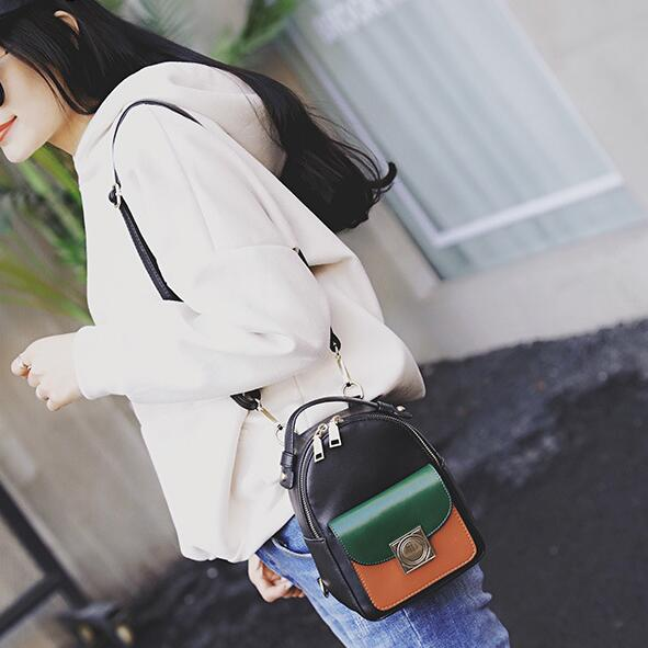 2017 Fashion new Female bag College wind High quality PU leather Women  Backpack Korean mini backpack Design shoulder bags girl-in Backpacks from  Luggage ... f90aedaf89907