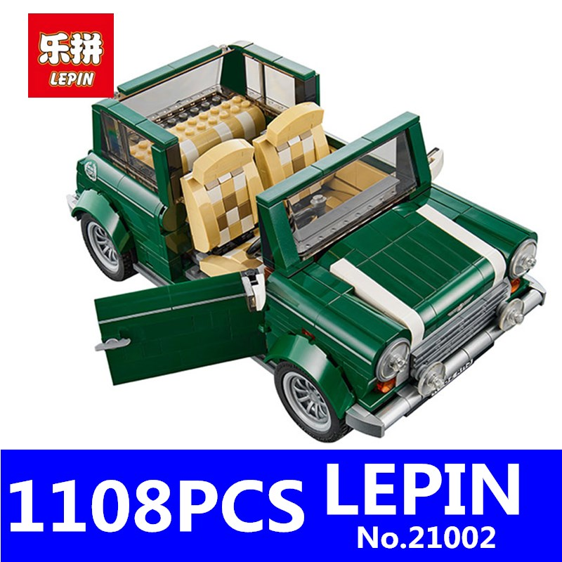 Technic Series MINI Cooper Model LEPIN 21002 1108pcs Building Kits Blocks Bricks Toys for Children Gift Compatible With 10242 lepin 02012 city deepwater exploration vessel 60095 building blocks policeman toys children compatible with lego gift kid sets