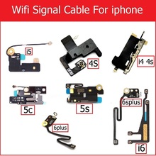 A+ Genuine Wifi Signal Antenna Flex Cable for iPhone 4 4s 5 5S 5c 6 plus Net work connector antenna wifi flex cable replacement cheap Apple iPhone weeten 1pcs Taiwan A++ quality