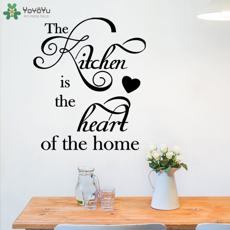 US $9.9 |YOYOYU Wall Decal Modern Family Home Decoration Sticker Quotes  Heart Of The Home Kitchen Wallpaper Vinyl Wall Decor Mural CT635-in Wall ...