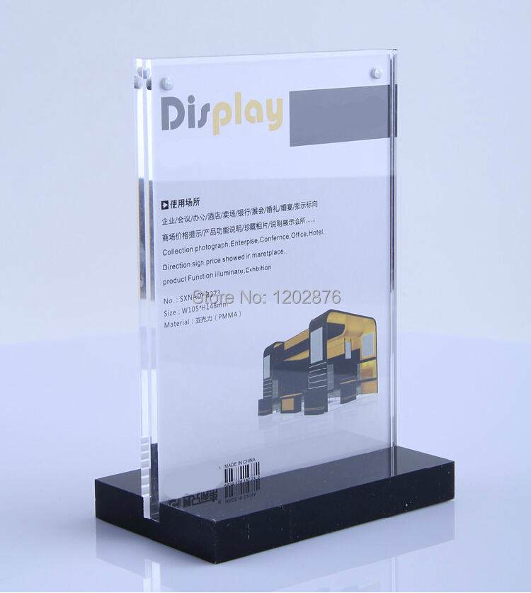 A Acrylic Magnetic Table Display Stand Holder Acrylic Desktop Label - Restaurant table top sign holders