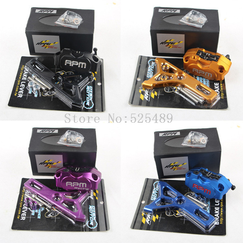 6 Colors RPM CNC Electric Motorcycle Scooter Brake Caliper+220mm Disc Brake Pump Adapter Bracket For Yamaha RSZ BWS Zuma Aerox keoghs real adelin 260mm floating brake disc high quality for yamaha scooter cygnus modify