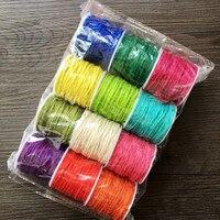 12 màu đặt 2 mét màu hemp rope stained gai dây DIY handmade đan trang trí rope10 m/roll