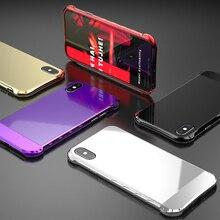 BBR1-Luxury чехол для телефона для iphone 8 7 плюс Роскошный Высокое качество Алюминий Металл противоударный 360 Полный Чехол для iphone X