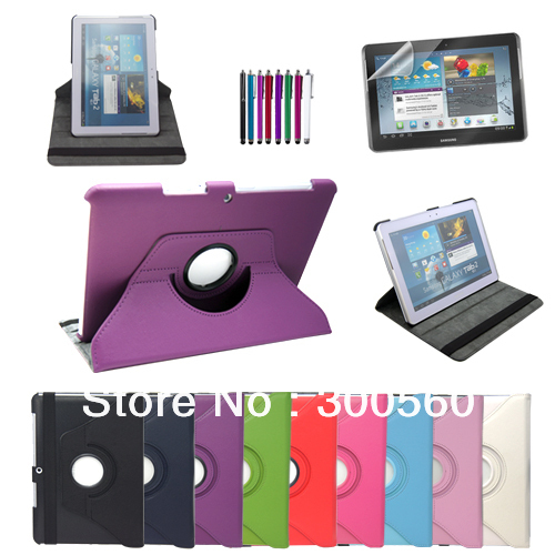 Hot Sale 360 Degree Rotating Leather Case Cover For Samsung Galaxy Tab 2 10 1 P5100