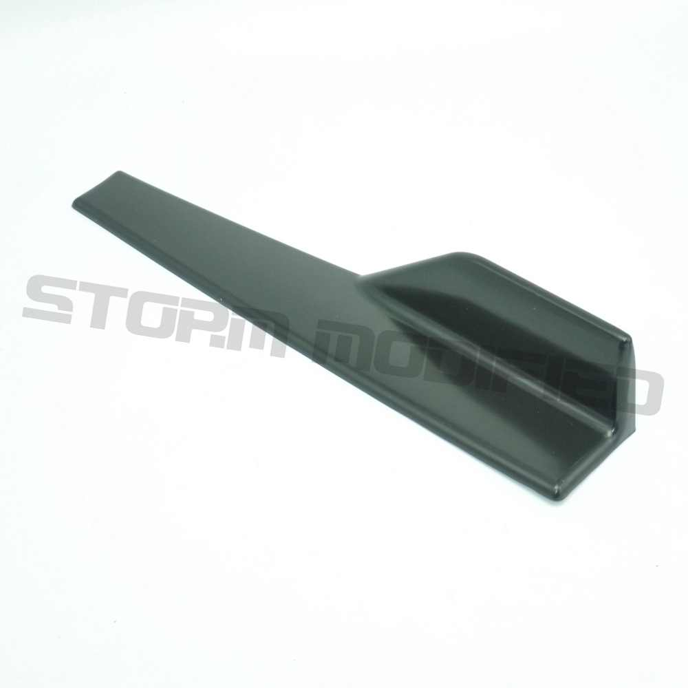 SuTong 黒ユニバーサル 45 センチ車体サイドスカートロッカー Strakes スプリッタ延長スプリッタ成形トリム自動車アクセサリー