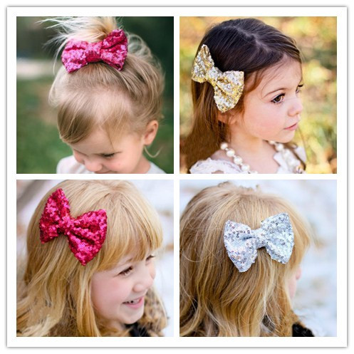 ec82bd0a997c sequin glitter bows barrettes hair clips pins decorations for children baby  girls hairpins hair accessories bow clip hairclip-in Hair Accessories from  ...