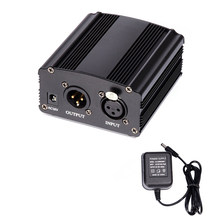 Free Shipping 48V DC Phantom Power Supply For Condenser Computer Vocal Recording Microphone Studio Broadcasting(China)