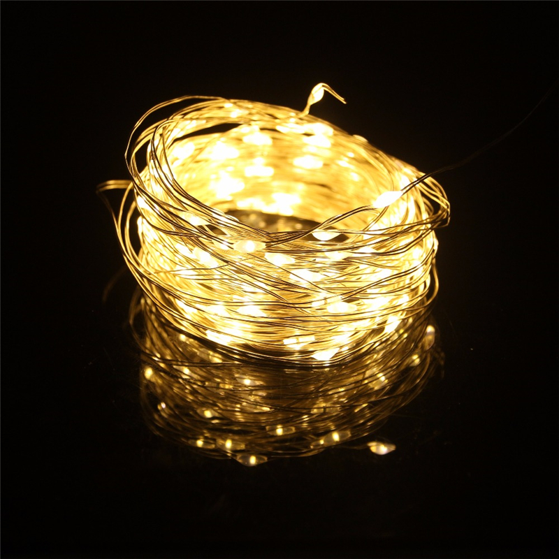 8 modes 5 10 20m led fairly light 5V USB battery powered Copper Wire garland for Christmas Wedding Decor string Lights in LED String from Lights Lighting