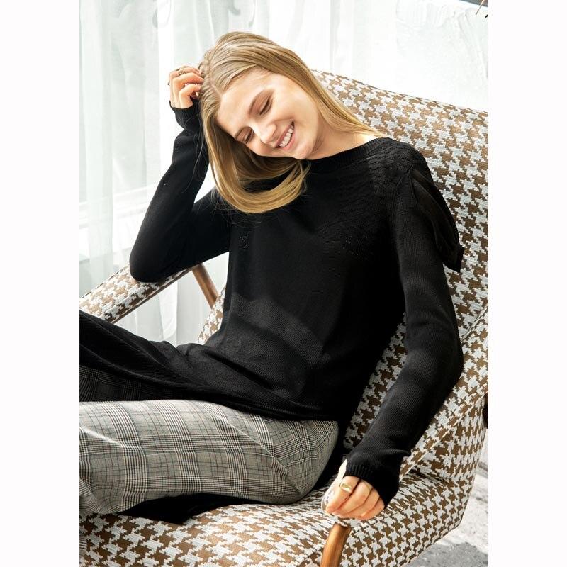 À Latérale Sweaters Long Automne De Causalité Hiver Longues Lâche Sweaters black Femmes Minimaliste Fente Manches Beige Robe 2018 O Solide Pull Amii Cou Chandail K1TJclF