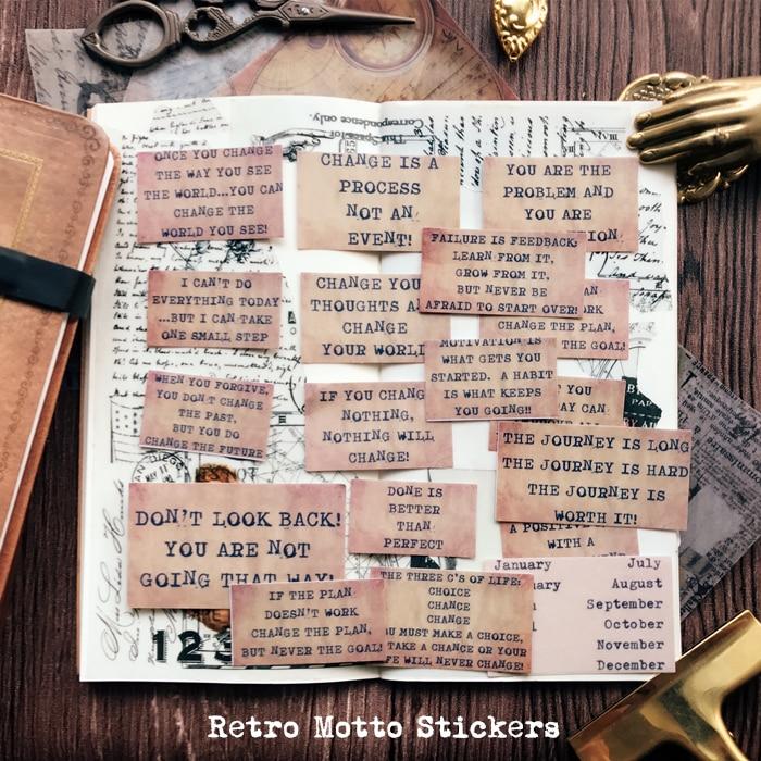17pcs Vintage Motto Retro Letter Classical words on life Decorative Stickers DIY Scrapbooking TN Diary album Stickers Escolar17pcs Vintage Motto Retro Letter Classical words on life Decorative Stickers DIY Scrapbooking TN Diary album Stickers Escolar