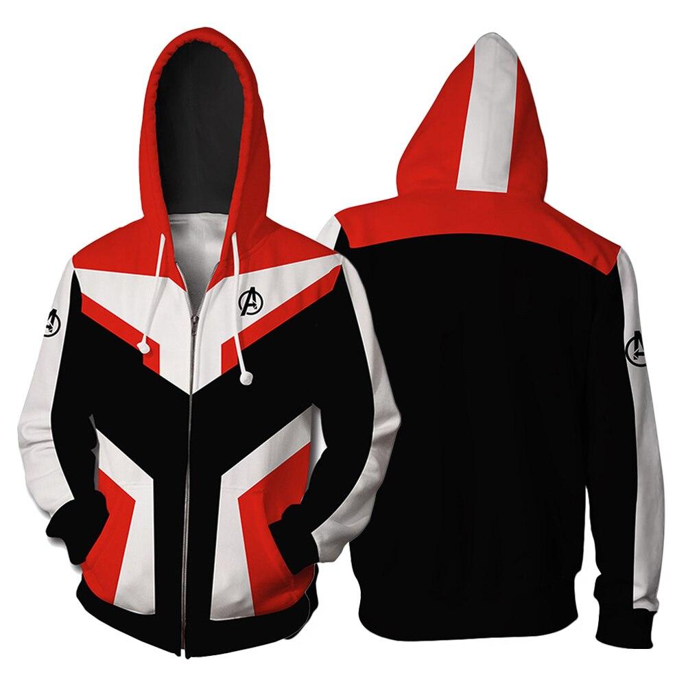 Avengers Endgame Cosplay Quantum Realm Hoodies Pullover Sweatshirt Quantum Realm Superhero Zipper Jacket Cosplay Hoody Hoodie