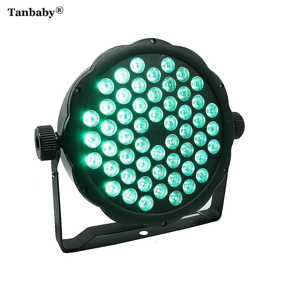 Tanbaby 54LED Professional LED Par Light RGBW 110V 220V LED Laser Projector Stroboscope Stage Light Effect DJ Disco Party DMX led stage light effect 12x3w flat par rgbw dmx512 dj disco lamp ktv bar party backlight laser beam projector dmx spotlight