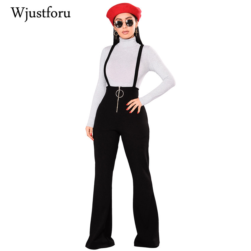 Wjustforu Backless Spaghetti Strap Casual   Jumpsuits   Female Wide Leg Pants Spring Winter Sexy Overalls Rompers Womens   Jumpsuit