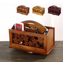 Table solid remote storage box Chinese wooden living room rack table