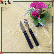 Wooden handle steak knife and fork two sets of Western cutlery steak knife and fork piece fitted stainless steel cutlery