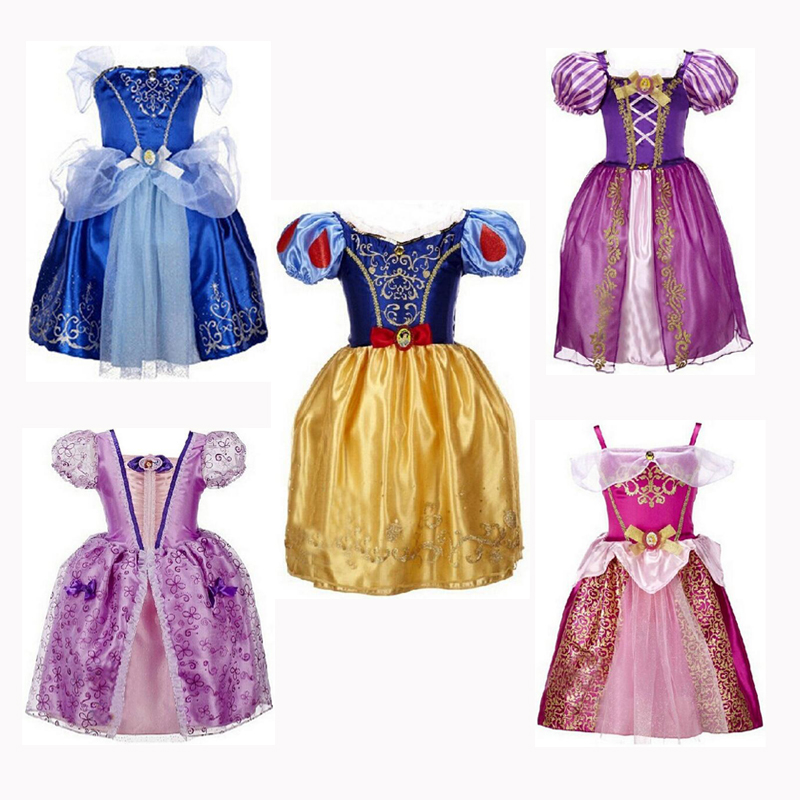 CNJiaYun Princess Girls Cinderella Dress Kids Clothing Snow Rapunzel Aurora Dress Christmas Costume For Girls Dresses princess cinderella girls dress snow white kids clothing dress rapunzel aurora children cosplay costume clothes age 2 10 years