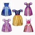 Edad 2-10 Años Ropa Los Cabritos Del Vestido Muchachas de La Princesa Cenicienta Nieve Aurora Vestido de Rapunzel Traje de Navidad Para Las Niñas Vestidos