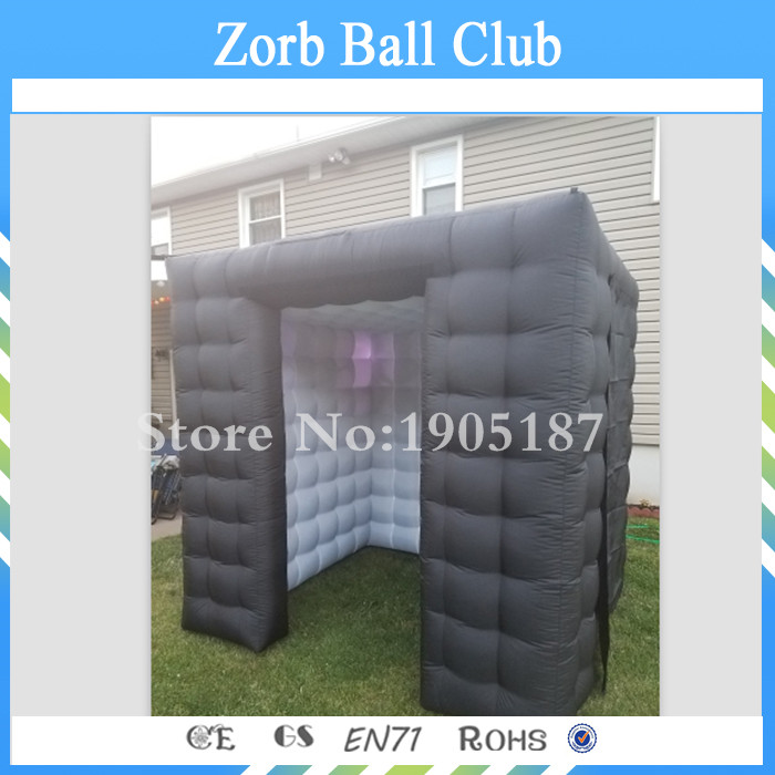 цены на Free Shipping Black Inflatable Photo Booth Tent Lighting Inflatable Cube Kiosk With LED Inflatable Photo Booth в интернет-магазинах