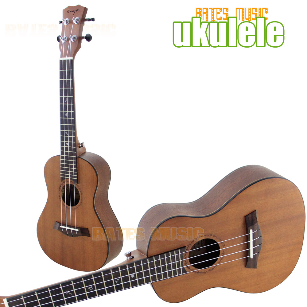 Hawaii Small Acoustic Guitar! ukulele with kits, 23  Guitar/high quality matt finished soprano ! Simpson 12mm waterproof soprano concert ukulele bag case backpack 23 24 26 inch ukelele beige mini guitar accessories gig pu leather