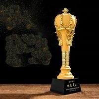Высокое качество! 31 см Корона Honour Glory компания Чемпион подарок Смола трофейный металлический Кубок награда сувенир домашнее украшение, Бесп