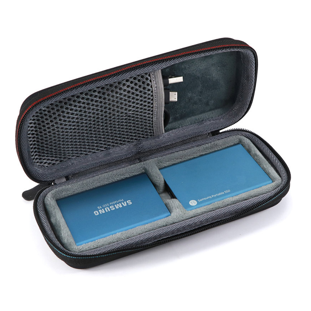 Nova Detém 2 PCS EVA Duro Carry Case para Samsung T5/T3/T1 Portátil SSD 250 GB 500 GB 1 2 TB TB USB 3.1 Drives de Estado Sólido Externo