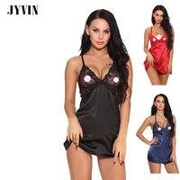 JYVIN Sexy Nightgown Erotic Babydoll Sex Underwear Lingerie Sexy Hot Dress Sleepwear Women Lace Nightwear Porn