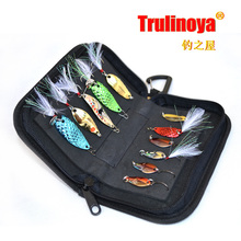 Trulinoya Fishing Bags Professional Water-resistant Paillette Spoon Bag Large Capacity Pesca Bag