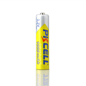 Image 4 - 2 шт./лот PKCELL высокая энергия 1,2 в 1000 мАч NiMh AAA аккумуляторная батарея Ni MH 3A батареи Battria