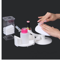 Makartt 16 Pcs/ Set Easy Use White Nail Tools Manicure and Pedicure Set Nail Art Base Nail Polish Holder Stand and Rest F0552X