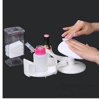 Makartt 16 Pz/set di Facile Utilizzo Bianco Nail Strumenti Manicure e Pedicure Set Nail Art Smalto di Chiodo di Base Del Supporto Del Basamento e di Riposo F0552X
