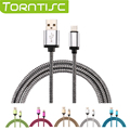 Torntisc 1M Type-C USB Charger Cable Metal Braided Data Sync Wire for Android Smart Phones