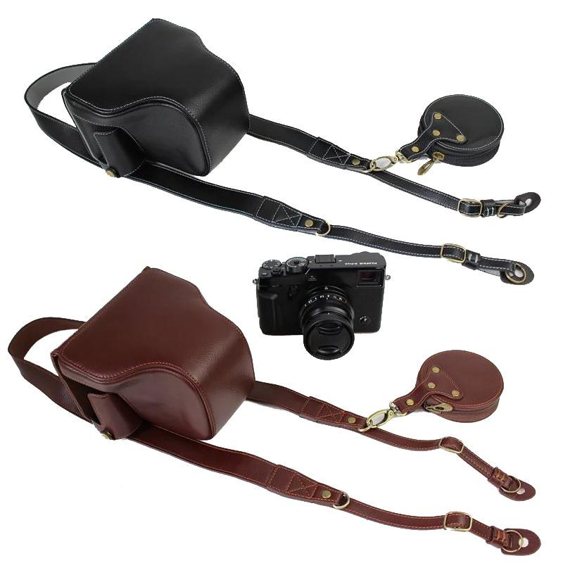 Etui de luxe en cuir véritable pour appareil photo sac complet pour Fujifilm Fuji X-Pro2 Xpro Mark II Xpro 2 XPRO2 housse avec sangle