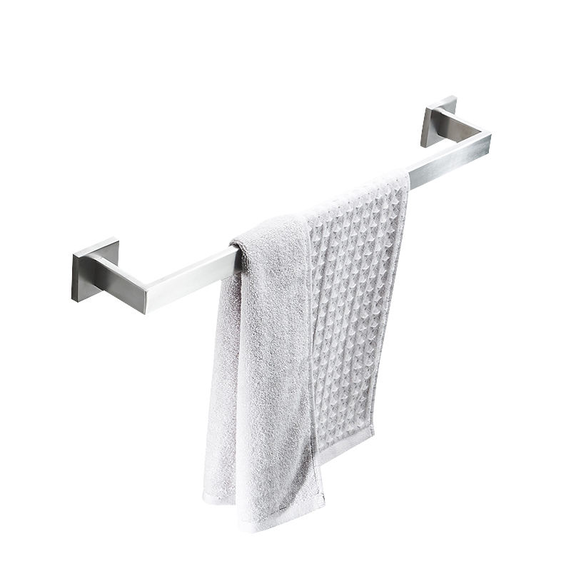 AUSWIND Contemporary Hotel 304 Stainless Steel Towel Rod Single Bar Thickened Towel Bar wall mount Bathroom Rod Rack Toilet 304 stainless steel bathroom towel rack bar hangers more