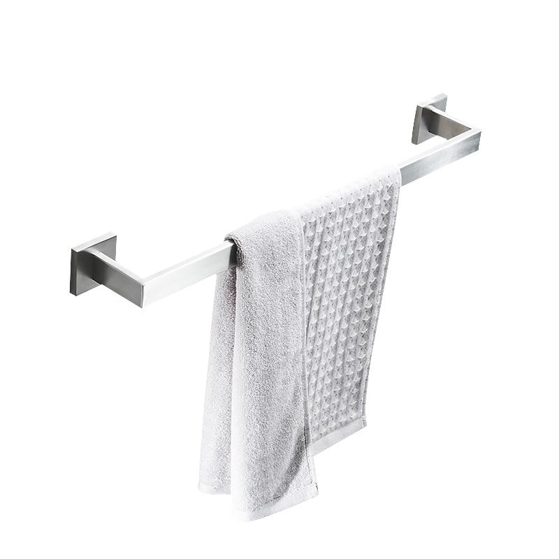 AUSWIND Contemporary Hotel 304 Stainless Steel Towel Rod Single Bar Thickened Towel Bar wall mount Bathroom Rod Rack Toilet