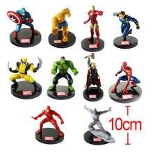 Anime Marvel Superhero The Avengers Justice League Iron Man Captain America Thor Hulk Wolverine PVC action figure toy Brinquedos