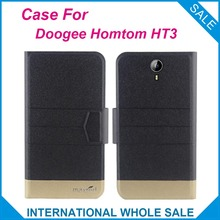 Super! 2016 Doogee Homtom HT3 Case New Arrival 5 Colors Factory Price Flip Leather Exclusive Case For Doogee Homtom HT3 Cover