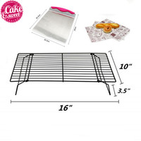 7pcs/set Stainless Steel Large Cake Lifter Spatula Pizza Dough Scraper Cutter +5pcs Food Wax Paper+1 Cooling Rack Baking Tool
